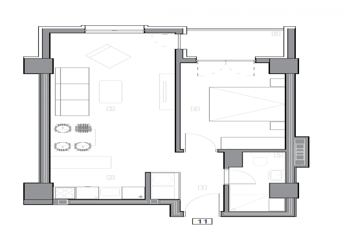 Зграда 55, кат 2, стан 11