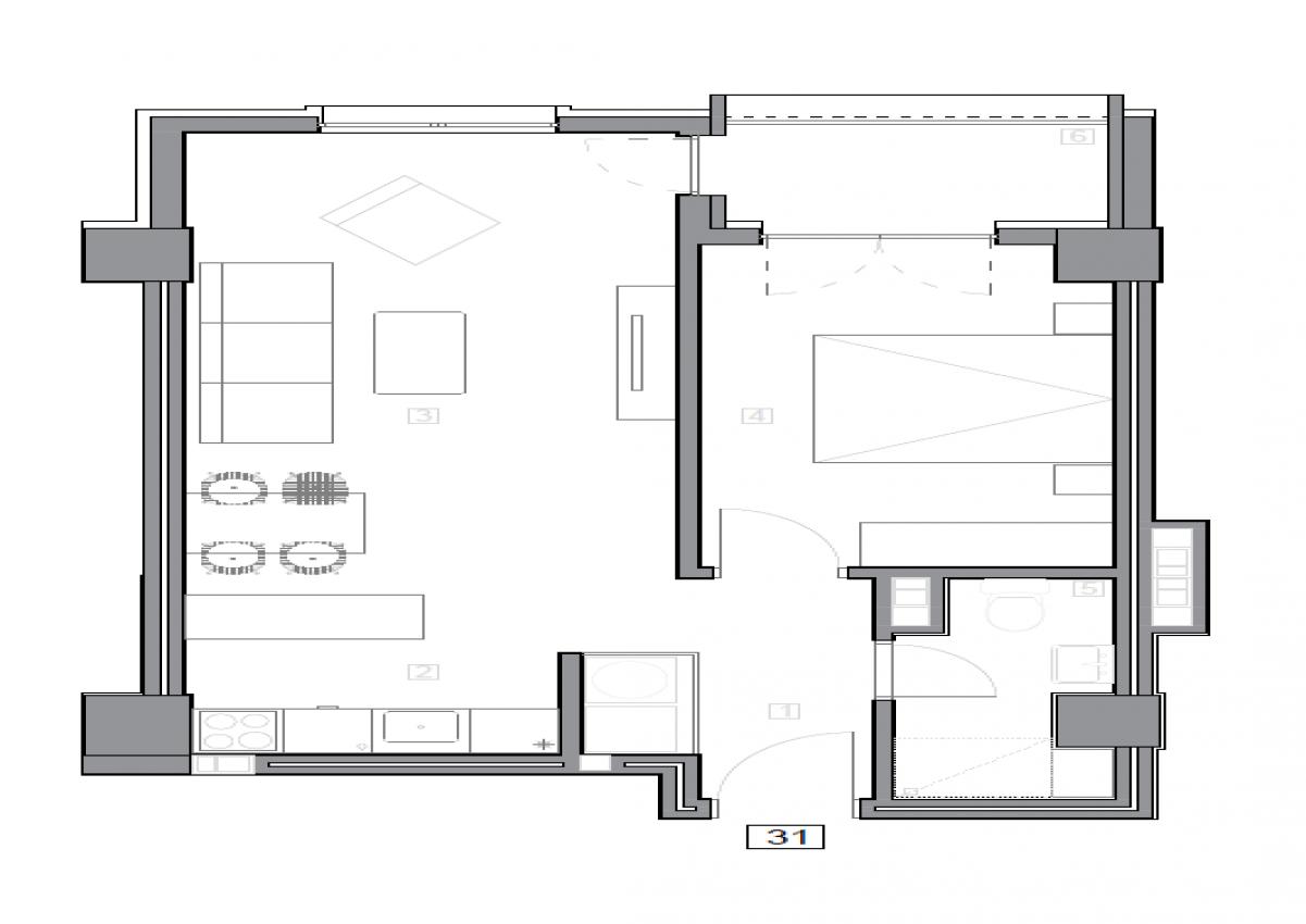 Зграда 55, кат 4, стан 31