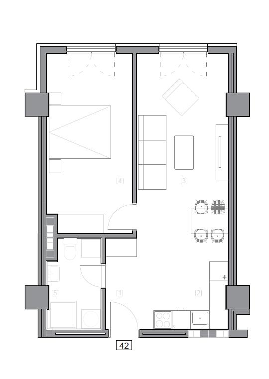 Зграда 55, кат 5, стан 42