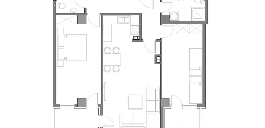 Зграда Пелагонија, кат 1, влез 2, стан 8