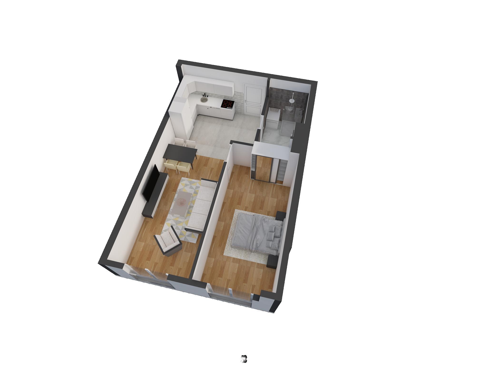 Зграда 55, кат 2, стан 12