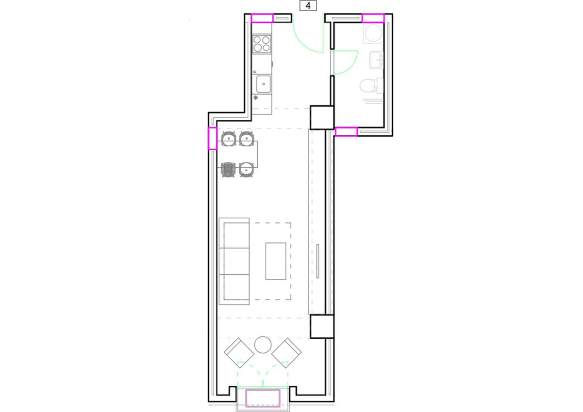 Зграда 55, кат 8, стан 74