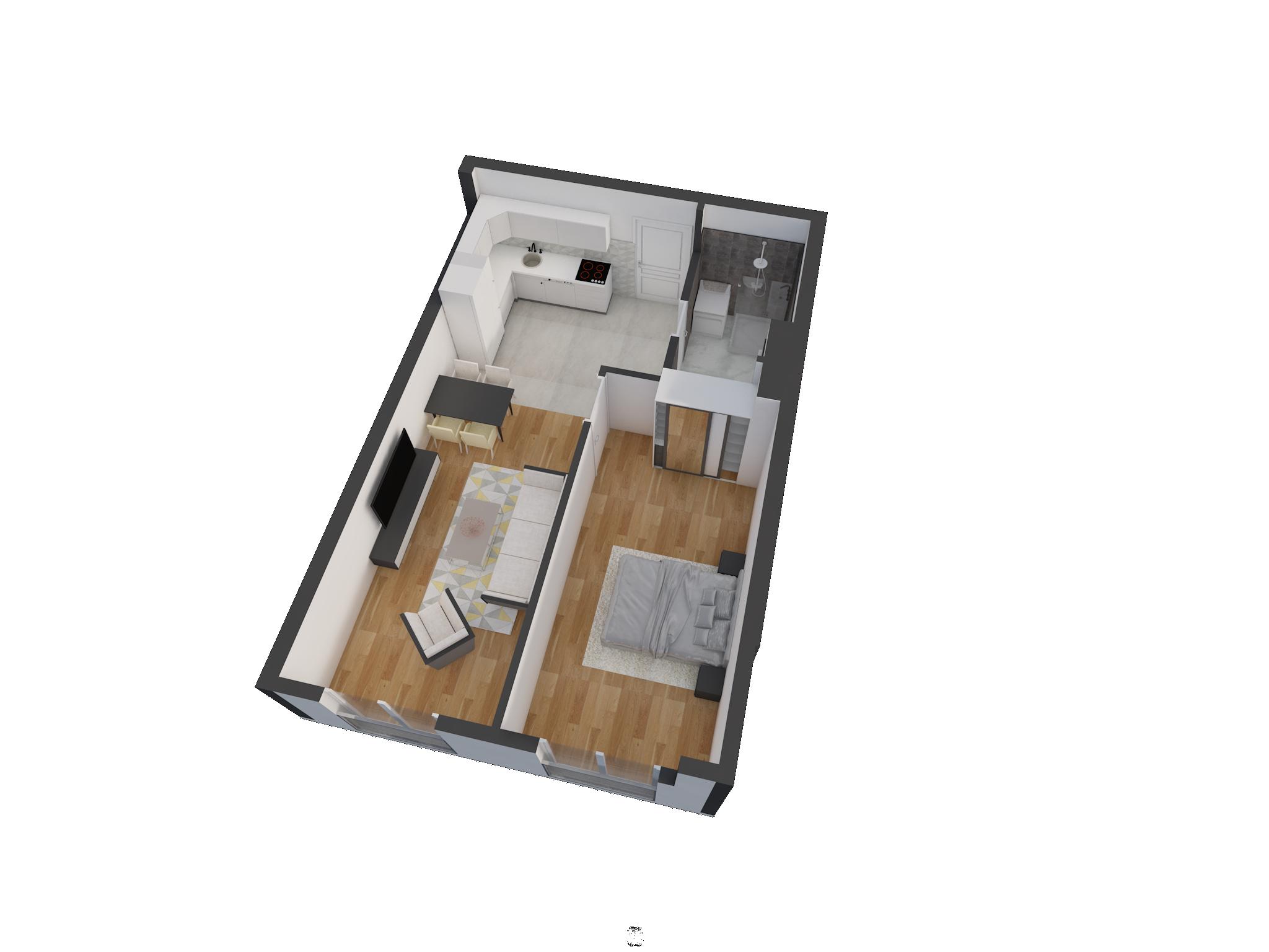 Зграда 55, кат 4, стан 32