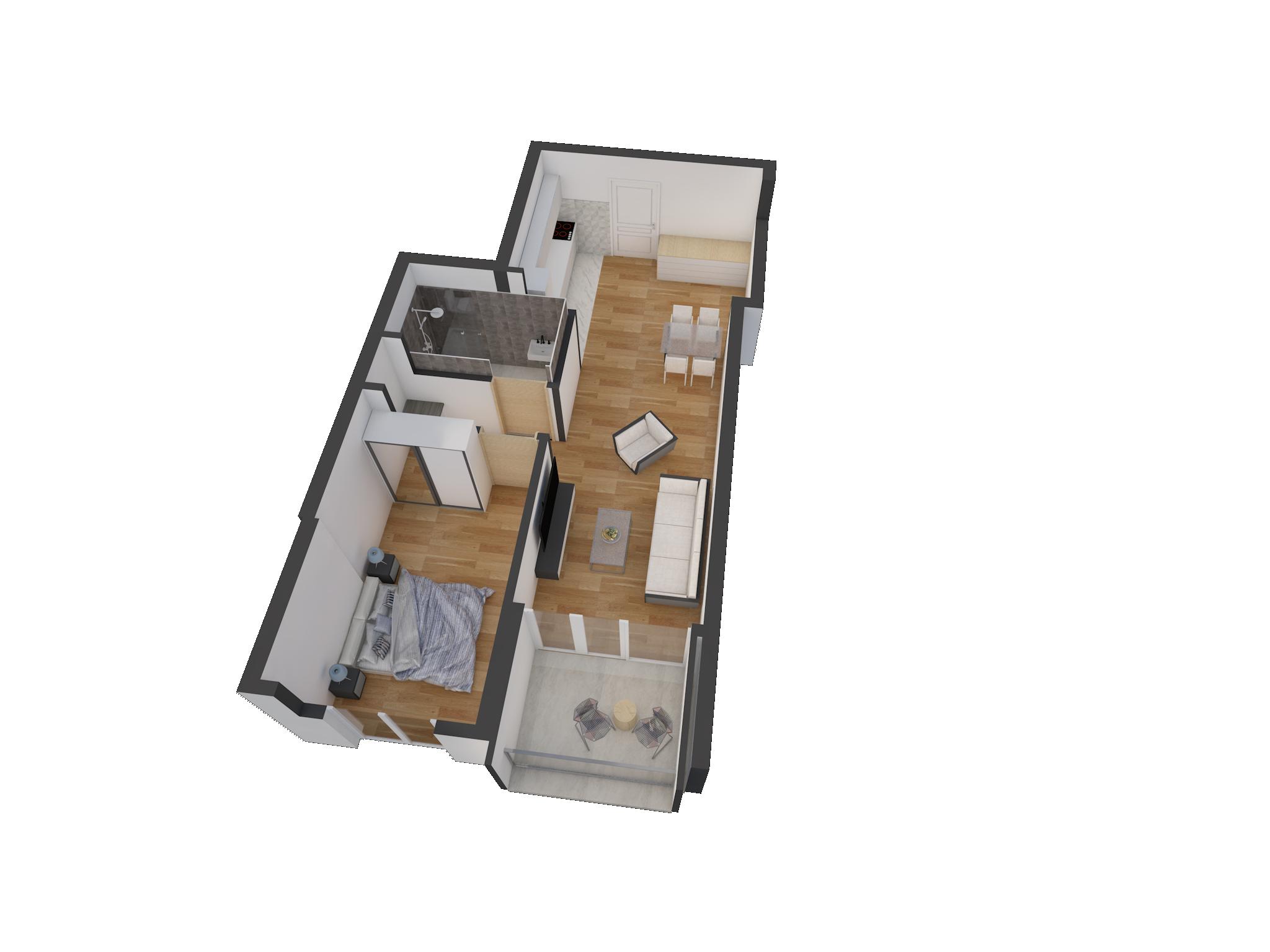 Зграда 55, кат 4, стан 33