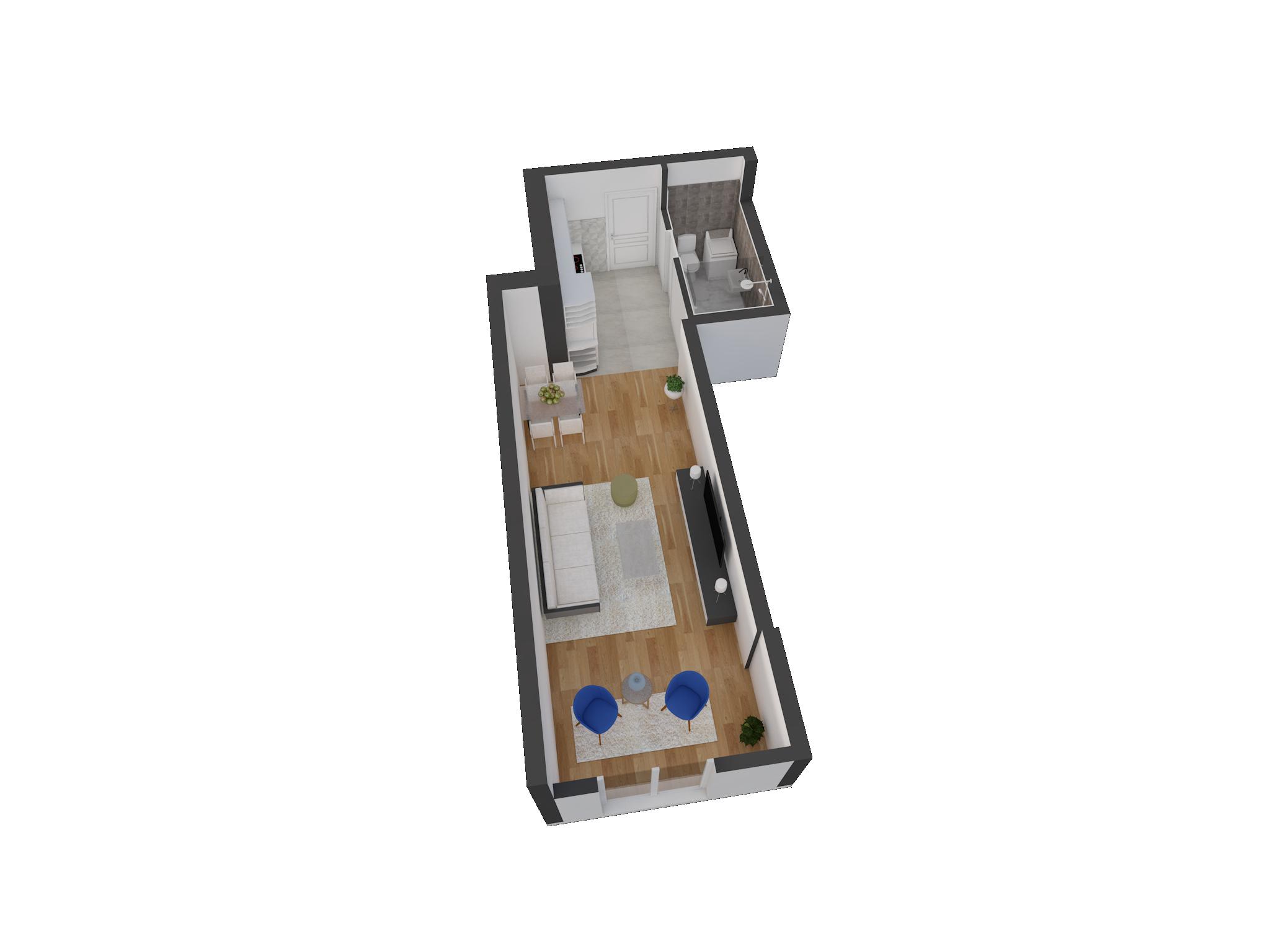 Зграда 55, кат 4, стан 34