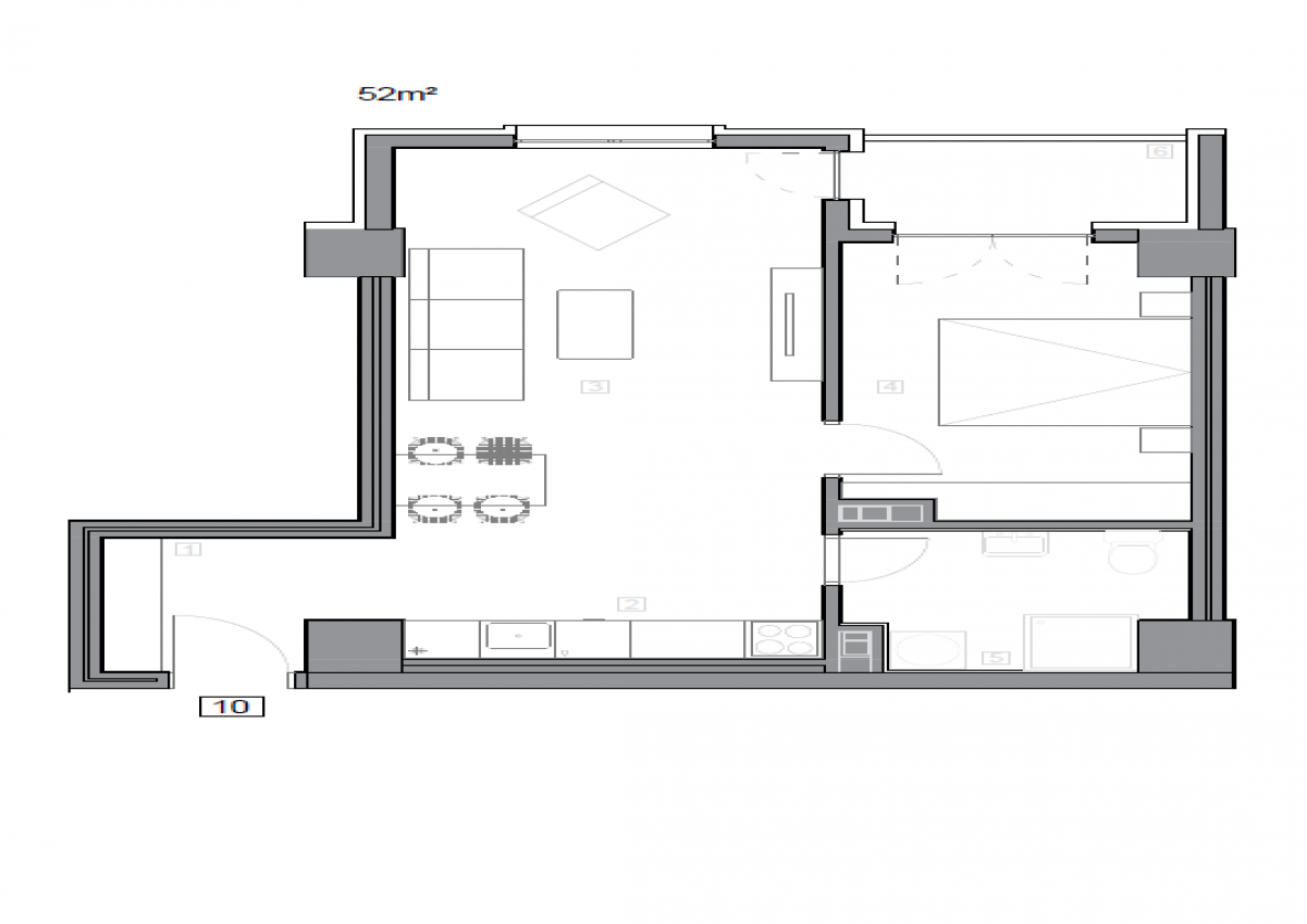 Зграда 55, кат 10, стан 102