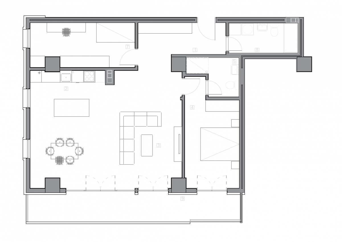 Зграда 55, кат 4, стан 37