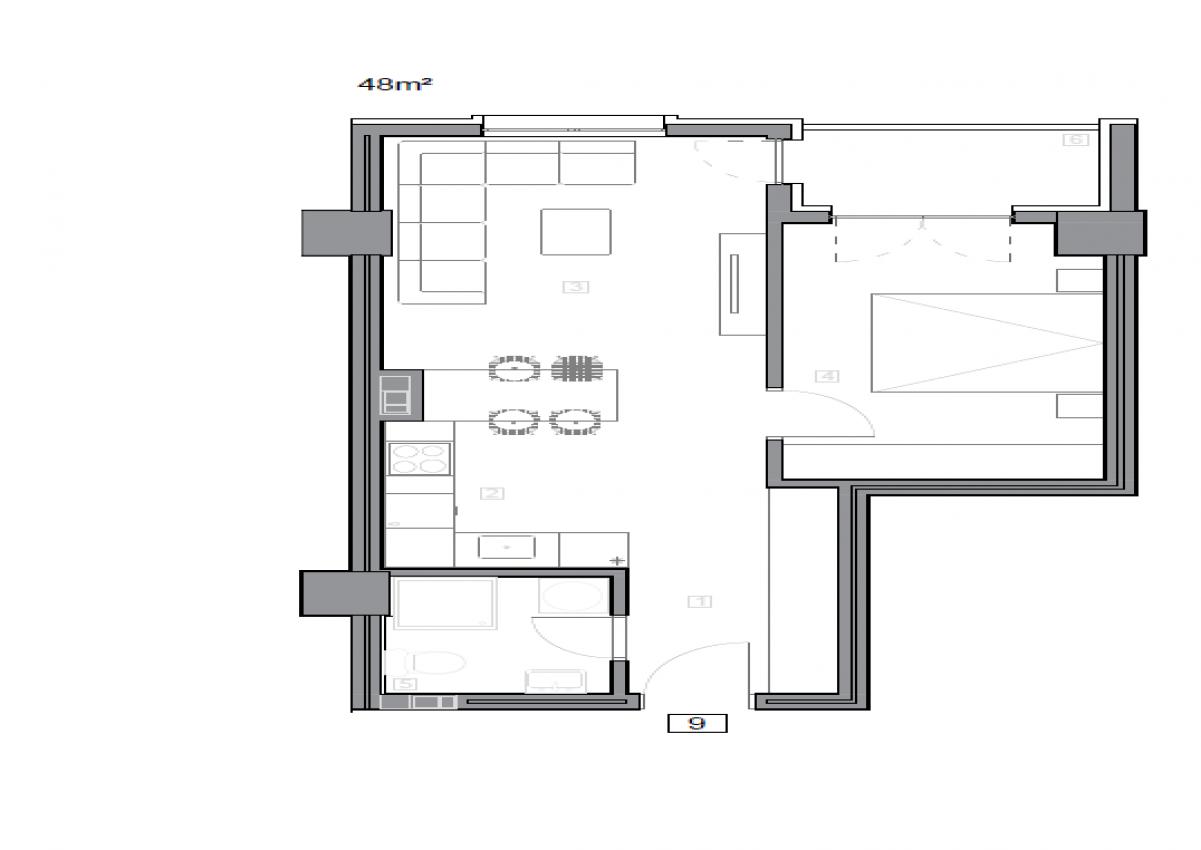 Зграда 55, кат 10, стан 101