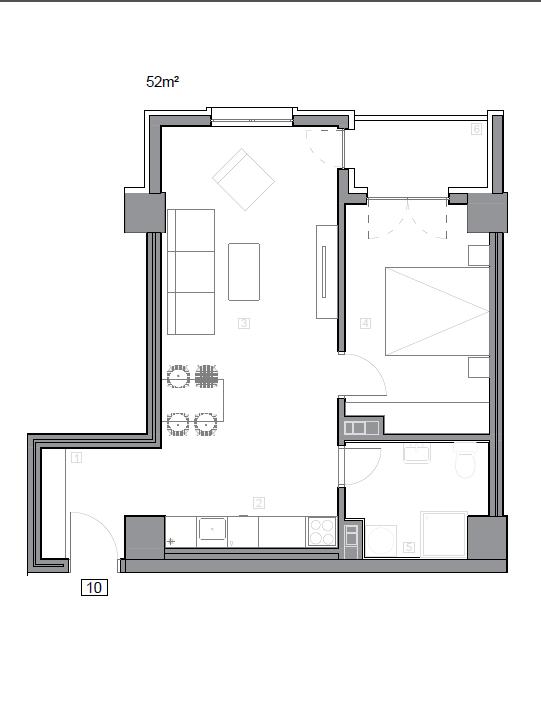 Зграда 55, кат 5, стан 50